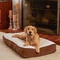 Buster Sherpa Latte Dog Bed