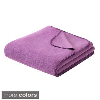Intelligent Design Solid Microfleece Blanket