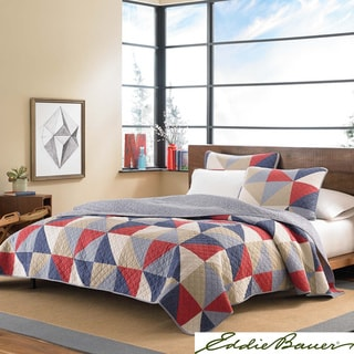Eddie Bauer Chelan Cotton Reversible 3-piece Quilt Set