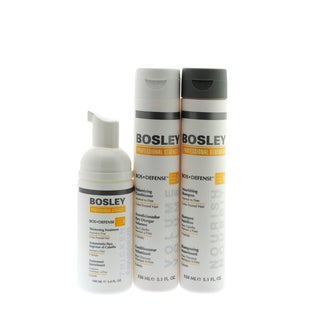 Bosley Defense Starter Pack with Shampoo, Conditioner and Thickening Treatment