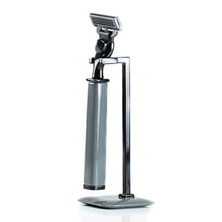 Grey Mach 3 Razor Handle and Stand 2-piece Set