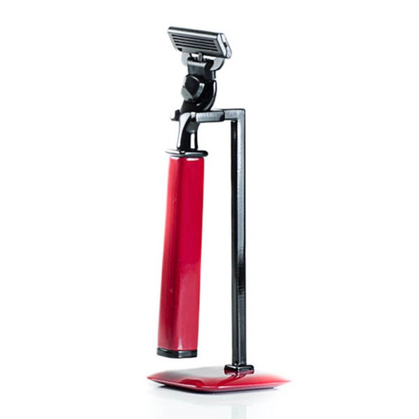 Red Mach 3 Razor Handle and Stand 2-piece Set