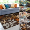Hand-Tufted Floral Contemporary Area Rug-(9' x 13')