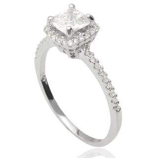 Tressa Collection Sterling Silver Cubic Zirconia Bridal Style Ring