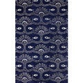 nuLOOM Hand-tufted Wool/ Viscose Blue Rug (7' 6 x 9' 6)