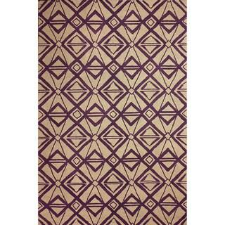 nuLOOM Hand-hooked Indoor/ Outdoor Purple Rug (7' 6 x 9' 6)