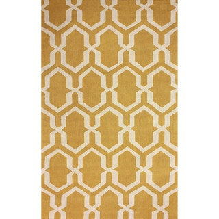 nuLOOM Hand-hooked Trellis Gold Rug (7' 6 x 9' 6)