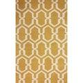nuLOOM Hand-hooked Trellis Gold Rug (7' 6 x 9' 6)