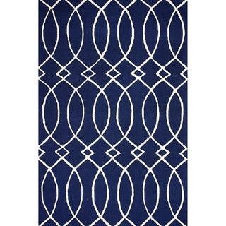 nuLOOM Hand-hooked Navy Rug (8' 6 x 11' 6)