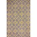 nuLOOM Hand-hooked Trellis Yellow Rug (7' 6 x 9' 6)