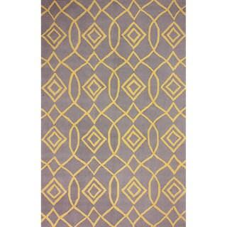 nuLOOM Hand-hooked Trellis Yellow Rug (8' 6 x 11' 6)