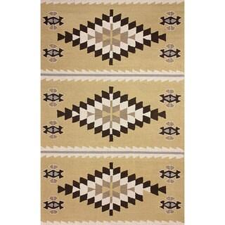 nuLOOM Hand-hooked Wool Mustard Rug (8' 6 x 11' 6)