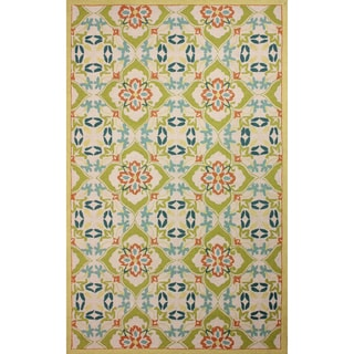nuLOOM Hand-hooked Trellis Wool Green Rug (8' 6 x 11' 6)
