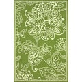 nuLOOM Hand-hooked Indoor/ Outdoor Floral Green Rug (8' x 10')