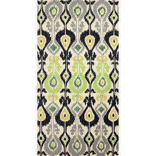 nuLOOM Hand-hooked Indoor/ Outdoor Ikat Green Rug (9' x 12')
