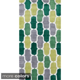 nuLOOM Hand-tufted Green Rug (8' 6 x 11' 6)
