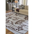 Hand-tufted Hork Floral Grey Area Rug (8' x 11')