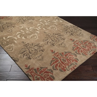 Hand-tufted Horton Floral Tan Area Rug (8' x 11')
