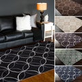 Hand-Tufted Geometric Contemporary Area Rug-(8' x 11')