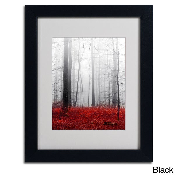 philippe sainte laudy 39 little red carpet 39 framed matted art overstock shopping top rated. Black Bedroom Furniture Sets. Home Design Ideas
