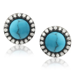 Tressa Collection Sterling Silver Cubic Zirconia Stud Earrings