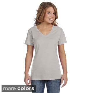 Anvil Women's Semi-sheer V-neck T-shirt