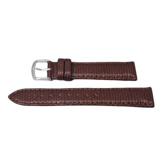 Hadley Roma Genuine Leather Java Lizard Grain With Stitch Trim