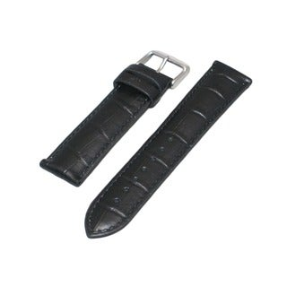Hadley Roma Alligator Grain Black Genuine Leather Watch Strap