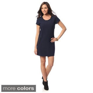 Hadari Women's Scoop Neck Casual Dress