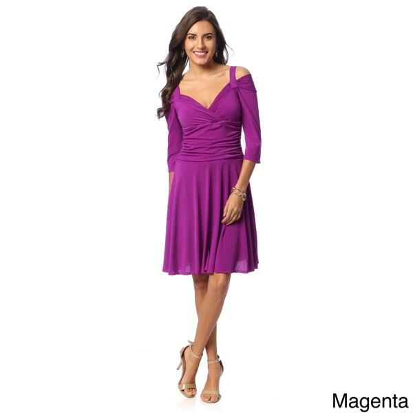 Evanese Women's 3/4-sleeve Skater Dress