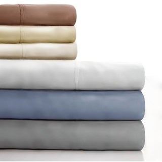 Lavish Home Cotton Blend Sateen 600 Thread Count Queen-size Sheet Set