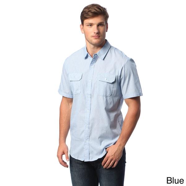 Burnside Men's Dobby-stripe Short-sleeve Shirt