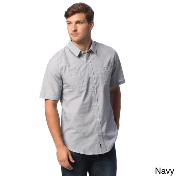 Burnside Men's Mini-check Short-sleeve Shirt