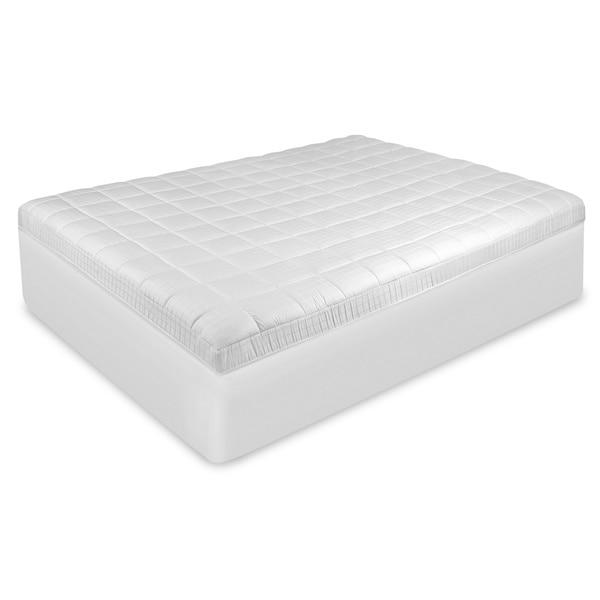 SwissLux EuroTop Antimicrobial Mattress Pad