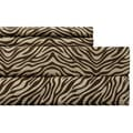 Zebra Chocolate Easy Care Sheet Set
