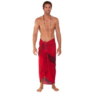 Men's Red/ Black Celtic Cross Sarong (Indonesia)