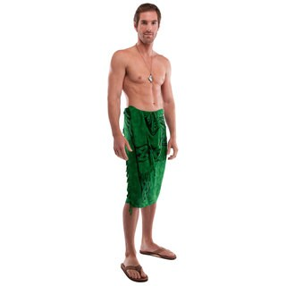 Men's Emerald Green Celtic Cross Sarong (Indonesia)