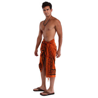 Men's Burnt Orange Celtic Cross Sarong (Indonesia)