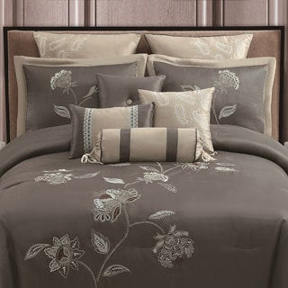 Catalunia 10-piece Embroidered Comforter Set