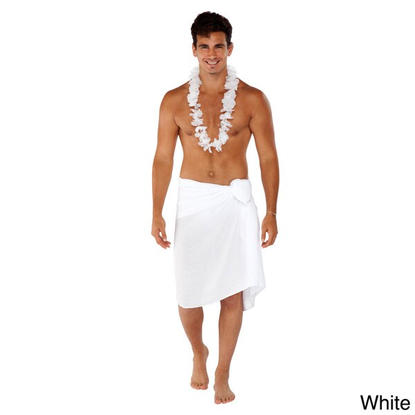 Men's Solid Fringeless Sarong (Indonesia)