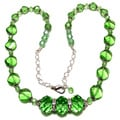 Peridot Green Crystal 4-piece Wedding Jewelry Set