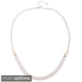 Alexa Starr Glass Tubular Mesh Necklace