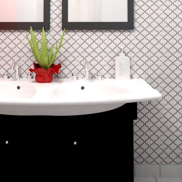 Somertile victorian morocco matte white for 10 inch floor tiles