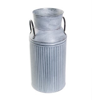 Sage & Co Antiqued Galvanized Fluted Milk Can Accent Piece Set of 2