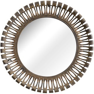 Drum Rusted Metal Frame Mirror