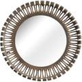 Drum Rusted Metal Frame Mirror