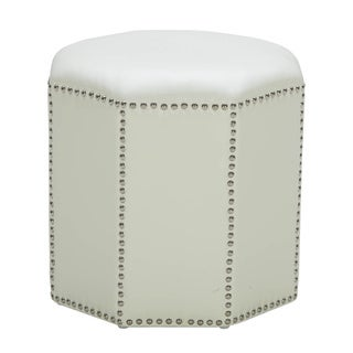 Sunpan '5West' Baltec Octogonal Ivory Nail Head Ottoman
