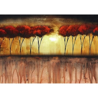 'Red Tops' Horizontal Canvas Art
