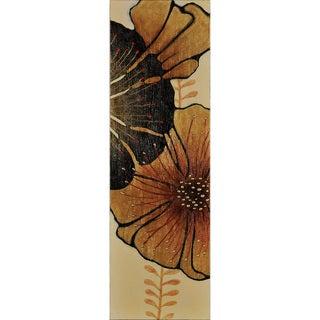 'Large Flower' Vertical Canvas Wall Art