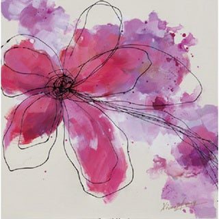 'Pink Scribbled Petals' Canvas Art